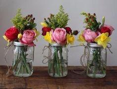 Mason jar centerpiece by elisabeth