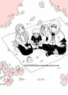Minato And Baby Naruto | Art: botanofspiritworld.deviantart.com/art/Na rutoKushinaMinato-Spring ...