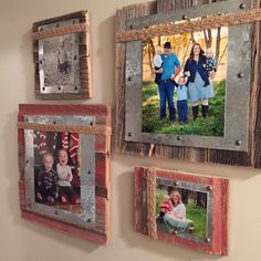 Barnwood, Tin & Burlap Photo Frame by DuckCreekRustics on Etsy https://www.etsy.com/listing/251777507/barnwood-tin-burlap-photo-frame