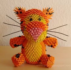 Gulnas' Kunstblog: Tiger. 3D / modulares Origami.