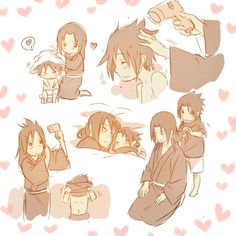 Find images and videos about cute, sasuke and itachi on We Heart It - the app to get lost in what you love. Baby Sasuke, Sasuke X Itachi, Naruto Y Boruto, Sakura And Sasuke, Anime Naruto, Naruto Images, Naruto Pictures, Kawaii, Ninja