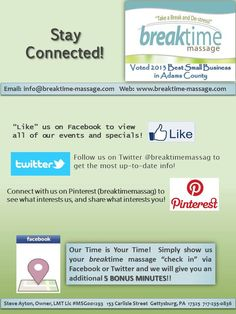 Breaktime Massage - Stay Connected Social Media Flyer