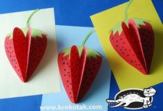 Spring and summer mean strawberries! Celebrate the season with this fun, dimensional strawberry craft.