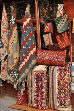Native American Rugs. Looking forward to finally being able to put some of our lovely ones up and around.