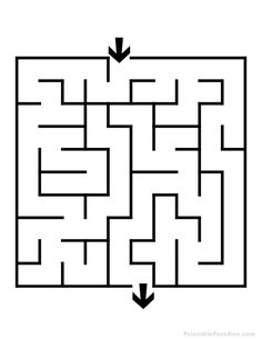 Printable Mazes for Kids. - Best Coloring Pages For Kids Maze Drawing, Hand Crafts For Kids, Mazes For Kids Printable, Preschool Activities At Home, Labyrinth Maze, Marble Maze, Maze Puzzles, Graph Paper Art, Drawing For Kids