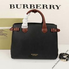 Burberry Medium Leather And Canvas Banner Bag In Black/Brown Burberry Outlet Online, Cheap Burberry, Fashion Addict, Calf Leather, Black And Brown, Calves, Shoulder Strap, Banner, Medium