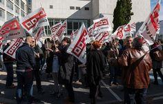 Imagen de la última protesta de las empleadas y empleados públicos, el pasado viernes.