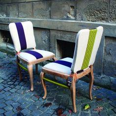 Stilvoller Vintage Stuhl (upcycled) von Ute Günther wachgeküsst - qip home