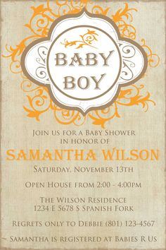 Vintage Baby Shower Invitation by SimplyAnnouncing on Etsy