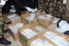 Aseguran en Michoacán más de una tonelada de metanfetamina