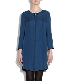 Cloquet silk djellaba dress - Peacock blue by A.P.C.