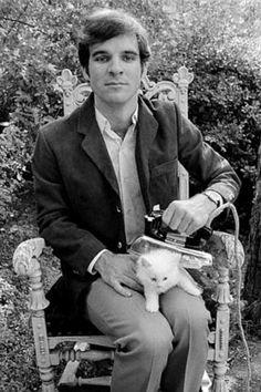 Steve Martin ironing the cat.