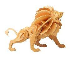 3d Puzzle Wooden Toy Lion