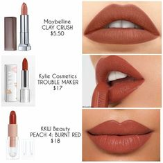 Lipstick dupes - Maquillaje y Brochas - Make Up Beauty Make-up, Beauty Dupes, Beauty Women, Natural Beauty, Hair Beauty, Lipstick Swatches, Makeup Swatches, Lipsticks, Mac Lipstick Dupes