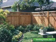 wood with lattace privacy fence Wood Fences Wooden Fencing Lattice Top Fence Minneapolis MN Front Yard Fence, Diy Fence, Fence Landscaping, Backyard Fences, Garden Fencing, Fenced In Yard, Fence Ideas, Pool Fence, Trellis Fence