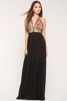 Women's Maxi Dresses | Las Flores Embroidered Maxi | A'GACi