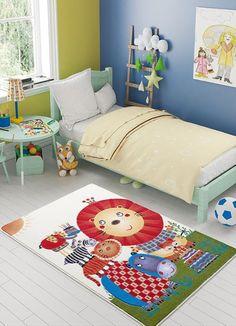 Zoomie Kids Teppich Lion in Orange Rug Under Bed, Orange Rugs, King Beds, Rug Making, Rugs Online, Confetti, Lion, Toddler Bed, Kids Room
