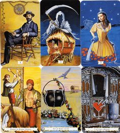 Buckland Romani Tarot Deck: a stunning deck with artwork based on the British Gypsy tradition. A largely lost heritage.