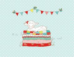 Little Lambie from the simple life fabric line from tasha noel