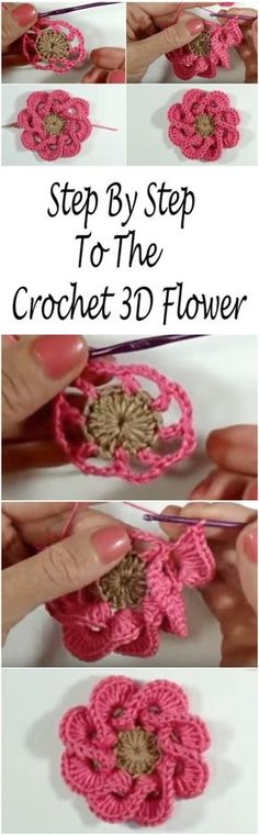 Multi Petals 3D Flower Crochet Tutorial