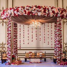 Diy Wedding Ceremony Ideas Receptions New Ideas Desi Wedding Decor, Wedding Hall Decorations, Marriage Decoration, Wedding Mandap, Wedding Venues, Destination Wedding, Flower Crown Wedding, Flower Bouquet Wedding, Wedding Dress