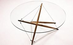 3 strut coffee table CENTRO TENSEGRIDADE / TENSEGRITY CENTERPIECE