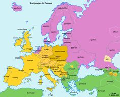 Cool linguistics thingy  The word orange in European languages, color coded for linguistic similarity