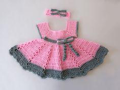Summer Baby Dress  Baby Dress   Summer Dress  by CinsKnitsnThings