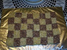 Rice crispy treat checkered flag  for race theme party