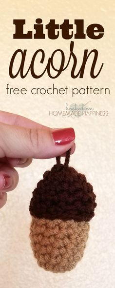 I made these cute acorns for my fall garland this year. PATTERN Materials Worsted weight (4) yarn – I used I Love this Yarn in Brown and Toasted Almond 5.0 mm hook Scissors Yarn needle Fiberfill (small amount) Level easy (must be familiar with basic crochet stitches) Pattern Notes & Stitches to Know sl st …
