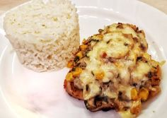 Sertéskaraj Gellért módra Baked Potato, Mashed Potatoes, Grains, Pork, Rice, Baking, Breakfast, Ethnic Recipes, Whipped Potatoes