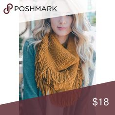 Mustard Fringe Infinity Scarf New with tags  ✔️Bundle discount: 10% off 2+ items.  ❌No trades clmayfae Accessories Scarves & Wraps