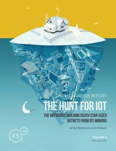 Selected pages from the second whitepaper OddBurton designed and illustrated for Threat Analysis Reports: The Hunt for IoT: The Networks Building Death Star-Sized Botnets from IoT Minions .