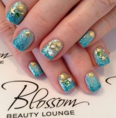 Mermaid Nails by Cammy @ Blossom Beauty Lounge