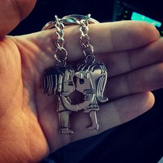 Cute bf gf keychain from claire's