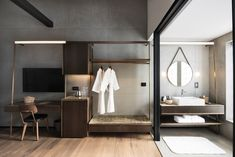 hotel room Gallery - The Warehouse Hotel Hotel Lobby Design, Hotel Bedroom Design, Hotel Inspired Bedroom, Loft Hotel, Modern Hotel Room, Warehouse Loft, Hotel Concept, Hotel Interiors, Hotel Suites