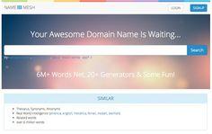 Namemesh -- 18 domain-name research tools