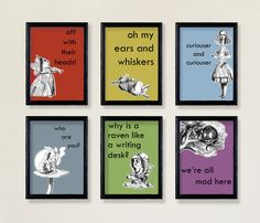 Alice in Wonderland Decor Jewel Tone Quotes  A6 by WonderlandShop, $12.00