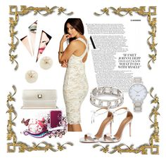 """""""White Party  Attire"""" by paige-brrian ❤ liked on Polyvore featuring Boohoo, Elie Saab, Kate Spade, Alexander Wang and Aquazzura"""