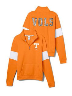 University of Tennessee Bling Half-Zip Pullover - PINK - Victoria's Secret