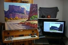 tips on using reference photos in the studio.