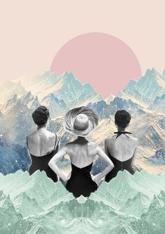 Shop Invierno en verano from LARA LARS in Paper, available on Tictail from Collage Artwork, Collages, Collage Design, Collage Illustration, Psychedelic Art, Surreal Art, Digital Collage, Art Inspo, Modern Art