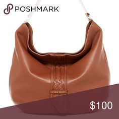 106a3cab61e0 Cole Haan Samantha Woven Detail Leather Hobo Bag