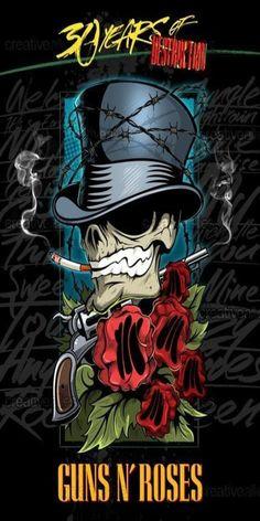 Guns n Roses Rock Band Posters, Rock Poster, Heavy Metal Art, Heavy Metal Bands, Guns N Roses, Rock Logos, Pays Francophone, Grim Reaper Art, Band Wallpapers