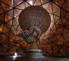 Inside an abandoned radome at an ex military installation.