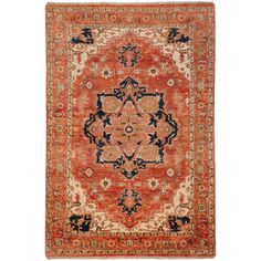 Hand-knotted Red Decatner Wool Rug (5'6 x 8'6) - 14187488 - Overstock Shopping - Sale: $844.89