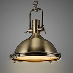Industrial chandelier chrome pendant lamp hanging ceiling light industrial nautical style single pendant light litfad 1575 wide pendant lamp with frosted diffuser mozeypictures Gallery