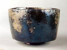 本阿弥光悦(1558-1637)作 黒楽茶碗 銘「七里」(五島美術館蔵) Kohetsu : Edo period 18c