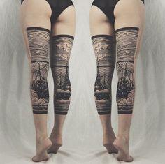 tattoo op benen
