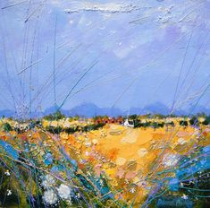 Deborah Phillips_Rusty Strathmore Barns_Hand Embellished Signed Limited Edition_5x5 l Scottish Contemporary Art